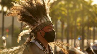Manifestação indígena em Brasília