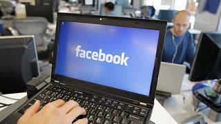 صورة تُظهر منظرًا داخليًا لمقر فيسبوك في مينلو بارك، كاليفورنيا، الولايات المتحدة، 8 فبراير 2012