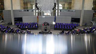 Photo d'archives : intérieur du Bundestag, le parlement allemand à Berlin, le 09/06/2021.