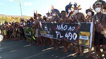 Indigenous rally ahead of Brazil land rights ruling