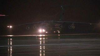 Самолёт с эвакуированными из Афганистана на аэродроме Чкаловский