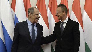 Глава МИД России Сергей Лавров на встрече с главой МИД Венгрии Петером Сийярто 24 августа 2021