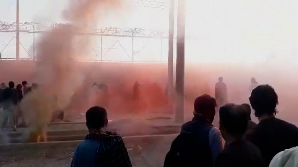 Tear gas used to disperse crowd at Kabul airport thumbnail