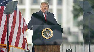 Eski ABD Başkanı Donald Trump Kongre baskını sırasında konuşma yaptı