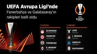 Galatasaray ve Fenerbahçe'nin Avrupa Ligi'nde rakipleri belli oldu