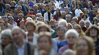 """Macaristan'da """"pandemi bitmedi"""" msajıyla düzenlenen konserden bir kare / Arşiv"""