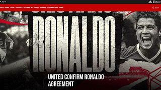 Cristiano Ronaldo revient à Manchester United
