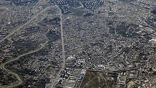 منظر عام يظهر مدينة كابول من الجو، 7 يوليو 2021