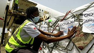 COVID-19 vaccines distributed by the COVAX global initiative arrives in Abidjan, Ivory Coast
