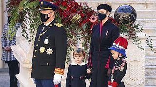 Albert und Charlene von Monaco mit den Zwillingen Gabriella und Jacques