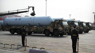 نمایش برخی از تسلیحات هستهای چین
