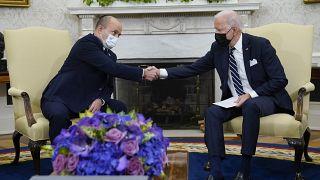 جو بایدن و نفتالی بنت در کاخ سفید