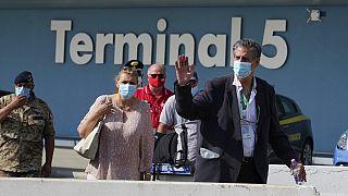 Stefano Pontecorvo, ambassadeur de l'Otan en Afghanistan, était à bord du dernier vol quittant Kaboul - Rome (Italie), le 28/08/2021