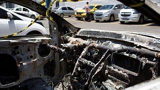 بقایای به جا مانده از خودروی حامل جسد سفیر سابق یونان در برزیل