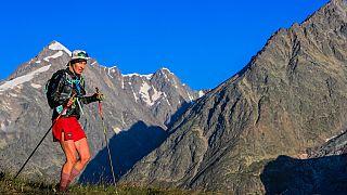 Coureur engagé dans l'Ultra-trail du Mont-Blanc, le 28/08/2021 - © UTMB® - Photo : Franck Oddoux