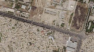 Территория аэропорта Кабула с воздуха