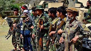 نیروهای وفادار به احمد مسعود و امرلله صالح در دفاع از دره پنجشیر در مقابل طالبان