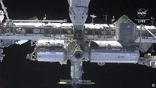 Dragon kapsülünden Uluslararası Uzay İstasyonu'nun görünüşü/Arşiv