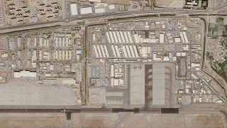 صورة أقمار صناعية تظهر مطار كابل الدولي. 2021/08/28