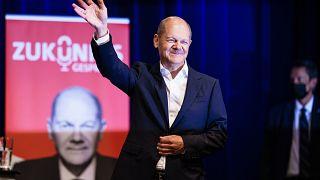 Berlin, 2021. augusztus 17. - Olaf Scholz, a Német Szociáldemokrata Párt (SDP) kancellárjelöltje