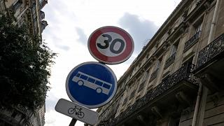 Limitation de la vitesse à 30 km/h à Paris en France, août 2021