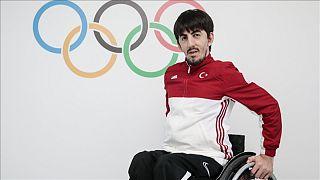 Türk Milli Takımı Paralimpik Olimpiyat Sporcusu Abdullah Öztürk.
