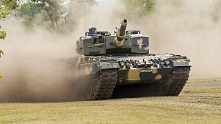 Az egyik első, már leszállított tank bemutatója 2020 július 24-én Tatán