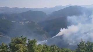 Tunceli'deki orman yangınları 13 gündür devam ediyor. Bölge dağlık ve engebeli olduğu için yangın uzun süre sönsürülemedi.  Pazar sabahı havadan müdahale başladı.