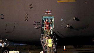 Afganistan'da görev yapan İngiliz askerler.