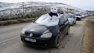 Rare snowfall in South Africa caused by a cold front