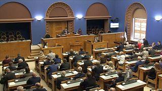 Das estnische Parlament an diesem Montag