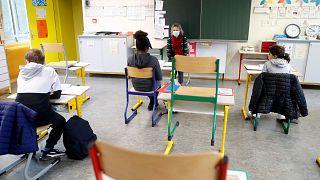 مدرسه در فرانسه پس از بازگشایی