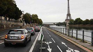 Paris'te trafik