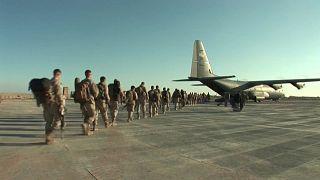 Partenza degli ultimi soldati USA