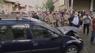 Autók is megrongálódtak a detonációban