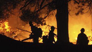 Waldbrand nahe South Lake Tahoe