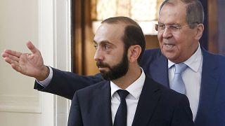Министры иностранных дел Армении и России Арарат Мирзоян и Сергей Лавров