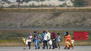 Yunanistan'daki kamptan Almanya'ya gönderilen mülteciler / ARŞİV