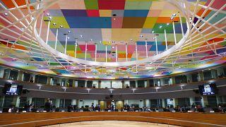 وزراء خارجية دول الاتحاد الأوروبي يشاركون في اجتماع خارق في بروكسل. 2021/08/17