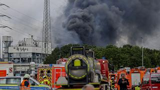 The blast at the Chempark industrial plant was heard up to 40 kilometres away.