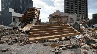 إعصار إيدا يدمر المحل الذي مان يعمل فيه نجم الجاز الراحل لويس أرمسترونغ في مدينة نيو أورلينز في ولاية لويزيانا الأمريكية