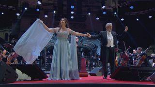 Гала-концерт Сони Йончевой и Пласидо Доминго на площади Александра Невского