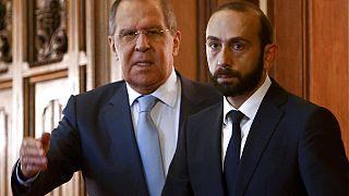 Rusya Dışişleri Bakanı Sergey Lavrov, Ermeni meslektaşı Ararat Mirzoyan ile bir araya geldi
