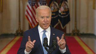 االرئيس بايدن في أول خطاب له بعد انسحاب أمريكا من أفغانستان