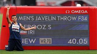 سعید افروز رکورد جهان را شکست و مدال طلا گرفت