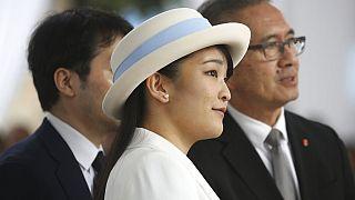 Mako hercegnő egy hivatalos rendezvényen 2019-ben Peruban