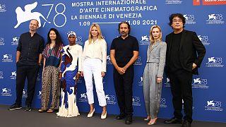 Os membros do júri do Festival de Veneza