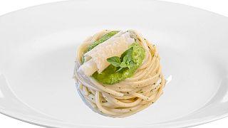 Spaghetti with pesto Amalfi