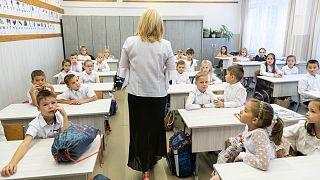 Az első osztályfőnöki óra egy nyíregyházi iskolában