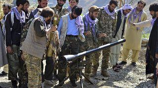 آموزش نظامی به داوطلبان مقاومت در پنجشیر